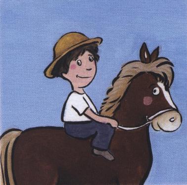Nicolas sur son cheval